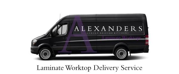 Laminate-Kitchen-Worktop-Warrington-Delivery-Van