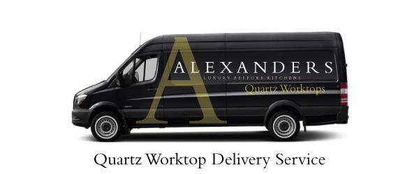 Alexanders-Quartz-Worktop-Warrington-Delivery-Van