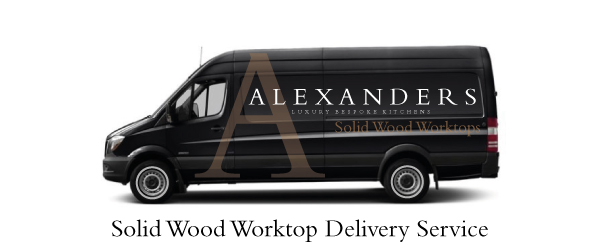 Solid-Wood-Kitchen-Worktop-Alexanders-Delivery-Van