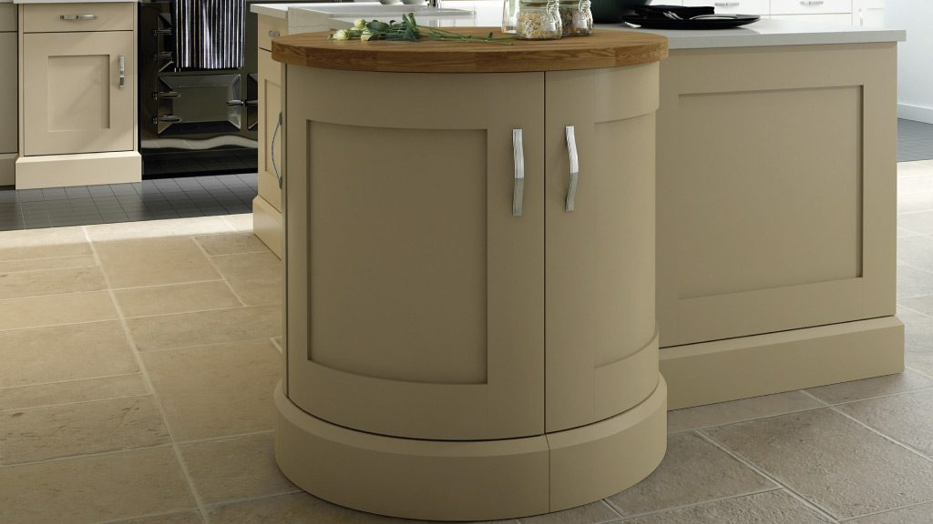 Kitchen Showrooms Warrington-Curved-Bespoke-Painted-In-Frame-Kitchen-Cabinet-Design