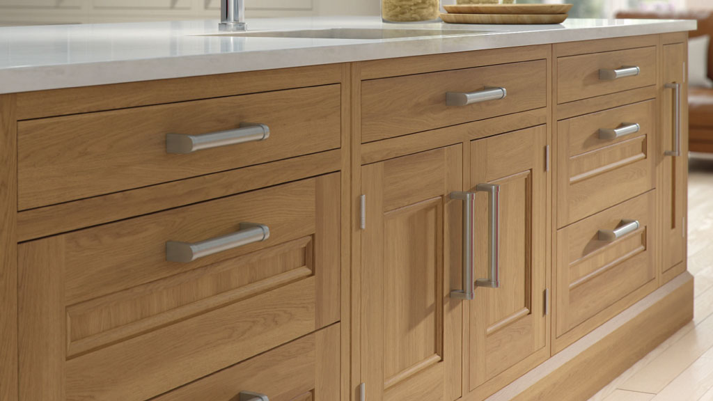Kitchen Showroom Warrington - Alexanders Kitchens Warrington-Solid-Wood-Oak-In-Frame-Kitchen-Drawers