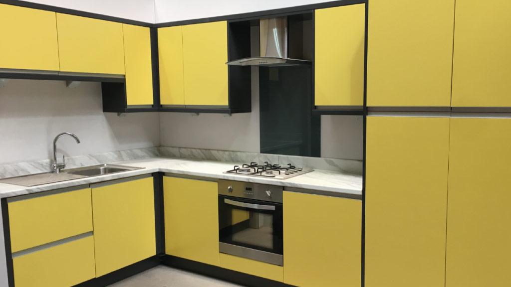 Cheap Kitchens Warrington - Budget Kitchens Warrington - Lemon Anthracite matt handleless kitchens Warrington